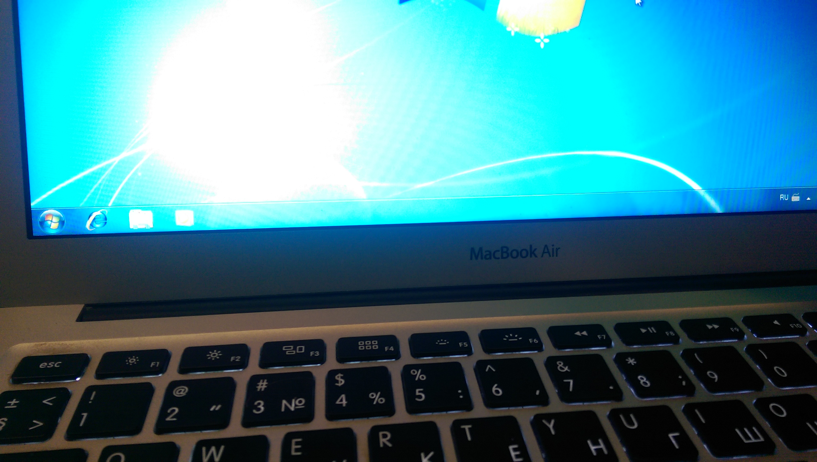 Установка Windows 7 на Macbook AIR 2013